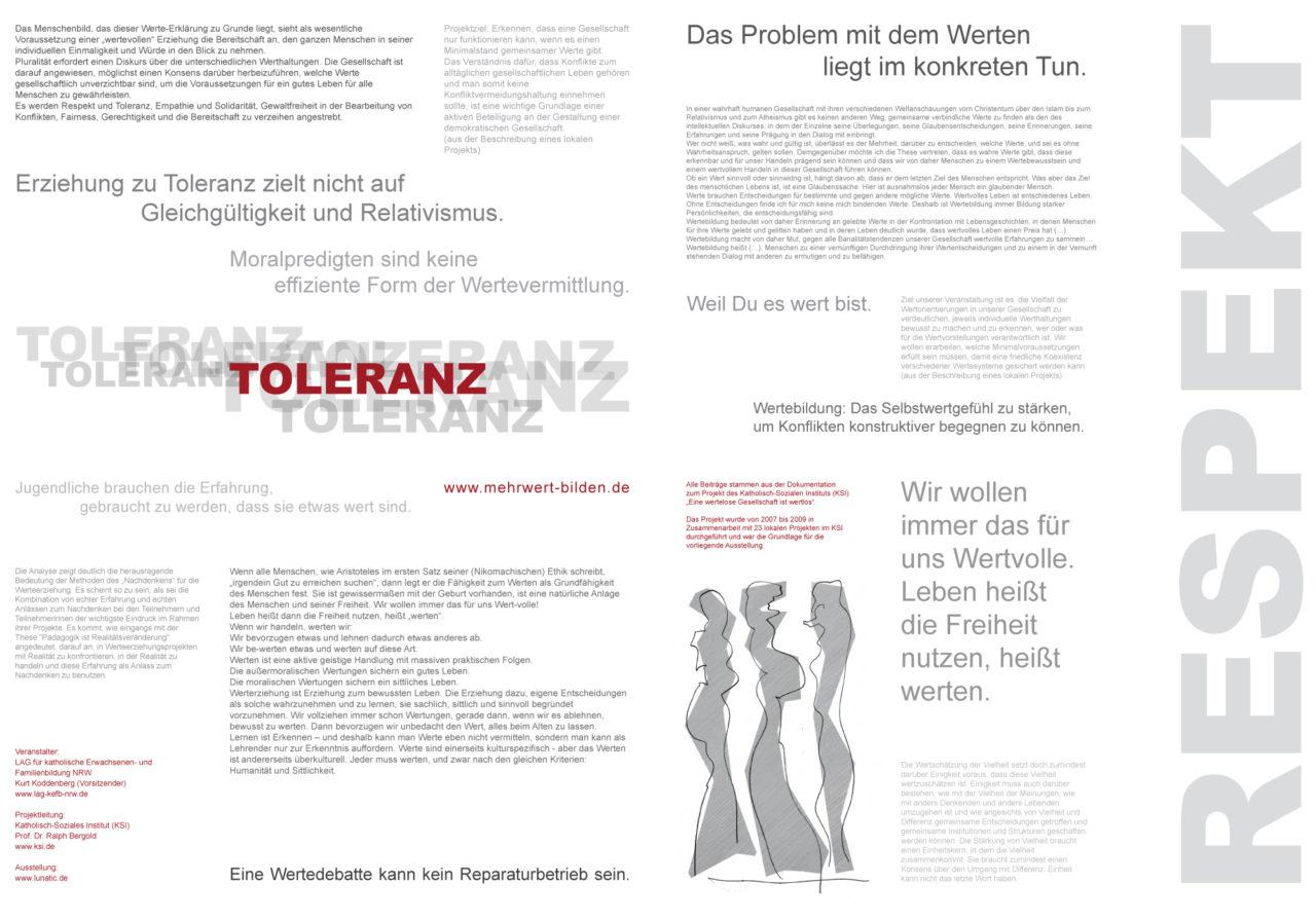 Werte-Ausstellung-Zeitung